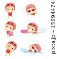 水泳 女の子 15694474