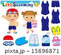 水泳 ベクター セットのイラスト 15696871