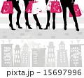 Beautiful girls on shopping 15697996