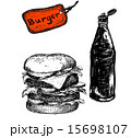 Burger with ketchup 15698107