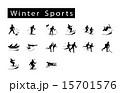 スポーツ ウィンター セットのイラスト 15701576