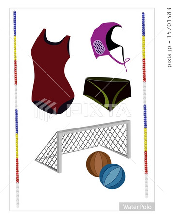 Set of Water Polo Equipment on White Background 15701583