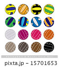 Collection of Volleyball Balls on White Background 15701653