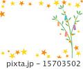 フレーム 年中行事 七夕飾りのイラスト 15703502