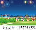 ベクター 夜店 花火のイラスト 15708455