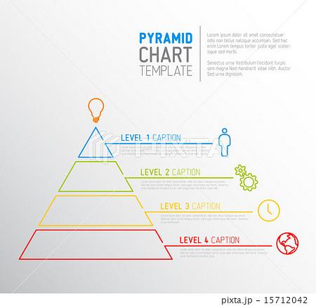 pyramid chart diagram templateのイラスト素材 15712042 pixta