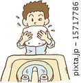 顔を洗う青年 15717786