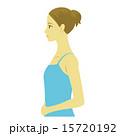 上半身 横顔 女性のイラスト 15720192