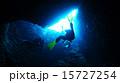 与論島 海中洞窟 15727254