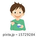 ベクター 子供 食べるのイラスト 15729284