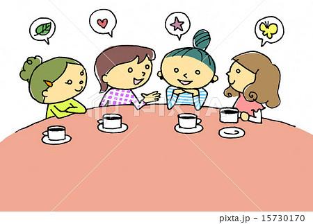 女子会カット挿絵カードにのイラスト素材 15730170 Pixta