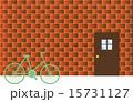 自転車とレンガの壁 15731127