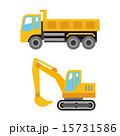 トラックとショベルカー 15731586
