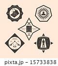 ロゴマーク 工事 セットのイラスト 15733838