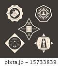 ロゴマーク 工事 セットのイラスト 15733839