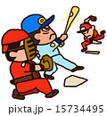 人物 男性 野球のイラスト 15734495