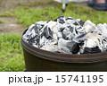 ダッヂオーブンの上の炭火 15741195