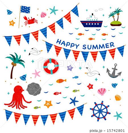 素材-HAPPY SUMMER2 15742801