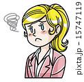 困る ベクター 表情のイラスト 15747119