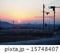 交通 交差点 夕焼けの写真 15748407