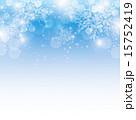 背景 雪の結晶 ベクターのイラスト 15752419