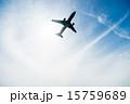 青空と飛行機 15759689
