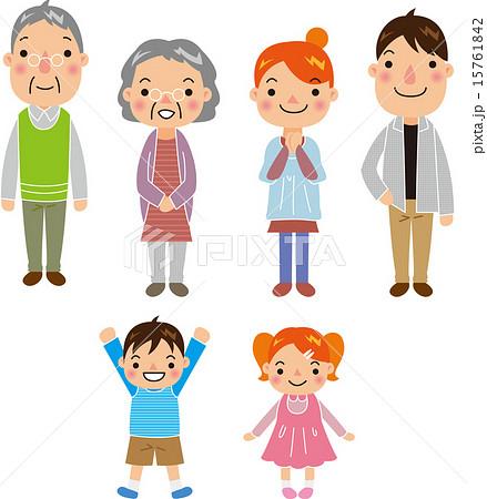 かわいい家族のイラスト素材のイラスト素材 15761842 Pixta