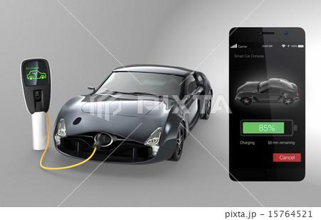 スマホアプリで電気自動車の充電状況をチェックする 15764521