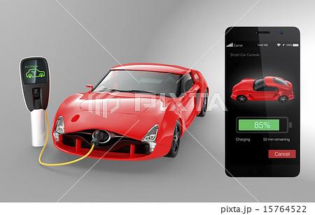 スマホアプリで電気自動車の充電状況をチェックする 15764522