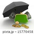 紙幣 傘 雨傘のイラスト 15770458