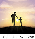 Father and child silhouette 15771296