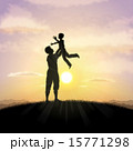 Father and child silhouette 15771298