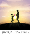 Father and child silhouette 15771405