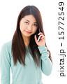 カメラ目線 アジア人 女性の写真 15772549
