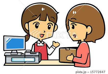 受付 対応 接客のイラスト素材 15772647 Pixta