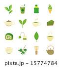 緑茶 抹茶 ベクターのイラスト 15774784