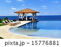 Pavilion and swimming pool in resort 15776881