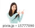 カメラ目線 アジア人 女性の写真 15777090