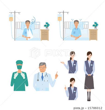医療 病院 入院 イラスト 15786012