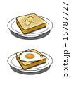 バター トースト ベーコンエッグのイラスト 15787727