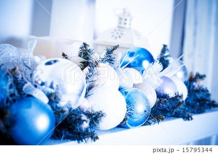 Christmas composition with Christmas ballsの写真素材 [15795344] - PIXTA