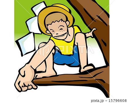 木登りのイラスト素材 15796608 Pixta