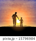 Father and child silhouettes 15796984