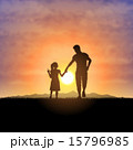Father and child silhouettes 15796985