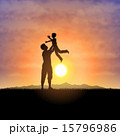 Father and child silhouettes 15796986