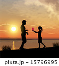 Father and child silhouettes 15796995