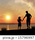 Father and child silhouettes 15796997