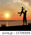 Father and child silhouettes 15796998