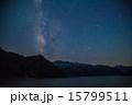 天の川 田子倉湖 残雪の写真 15799511