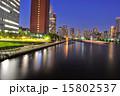 都会 川 夜景の写真 15802537